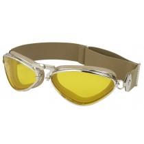 Aviator goggle Jeantet 4400 nickel beige