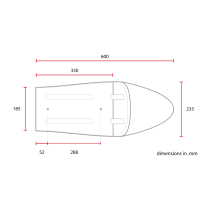 C RACER Coque C Classic SCR1 universelle sellerie marron
