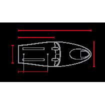 C RACER Coque Long Classic B SCR2.2 universelle sellerie noire