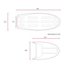 C RACER Coque bi-place pour BMW série R sellerie marron