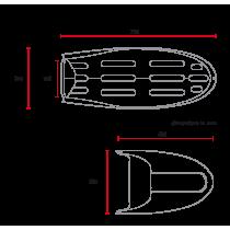 C RACER Coque bi-place pour BMW série R sellerie noire