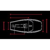 C RACER Coque Flat Track universelle sellerie noire SCR4