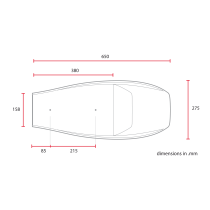 C RACER Selle Flat Racer universelle noire SCR4FC