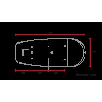 C RACER Selle Scrambler plate épaisse universelle marron