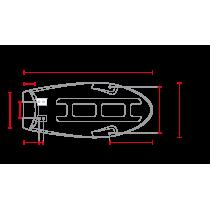 C RACER Selle plate pour SR400 / SR500 CARB marron