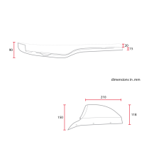 C RACER Selle double avec capot de selle pour CX500 noire