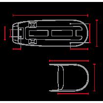 Selle double avec capot de selle pour CX500 noire