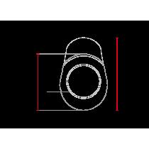 Saut de vent / bulle Café Racer classique universelle MCR1 abs