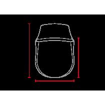 Saut de vent / bulle Café Racer classique universelle MCR2 abs