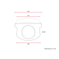 C RACER Saut de vent / bulle Café Racer classique universelle MCR7.1 abs
