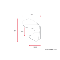 Saut de vent / bulle Café Racer classique universelle MCR7.1 abs