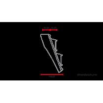C RACER Plaque phare / numéro avec phare universelle MCR6