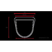 C RACER Plaque phare / numéro universelle MCR4 abs