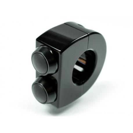 Motogadget m-Switch noir (1 pouce) 2 boutons