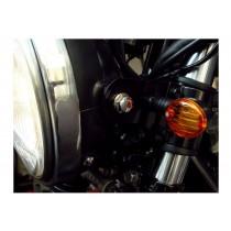 Micro Flash (noir/chrome)  Shin Yo Clignotants à ampoule