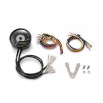 Compte-tour (+vitesse) Velona BLACK 80mm